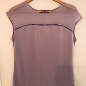 Limited lavender top. Sheer at top